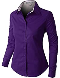 Amazon.com: Purple - Blouses & Button-Down Shirts / Tops & Tees ...