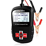 FOXWELL BT100 Pro Battery Analyzer 12V 100-1100 CCA Automotive Battery Load Tester Detect Health Directly of Regular Flooded, AGM Flat Plate, AGM Spiral and GEL Batteries