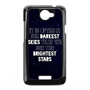 HTC One X Cell Phone Case Black Darkest Skies Brightest Stars L6M1UI