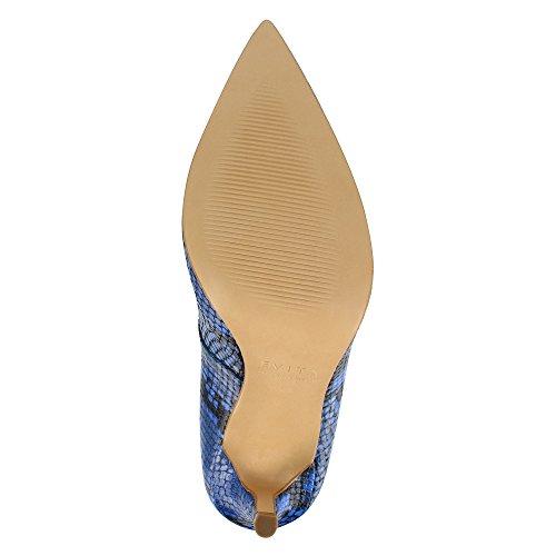 Piel Evita mujer Azul Shoes de vestir de Zapatos para wqXxO06Uqr