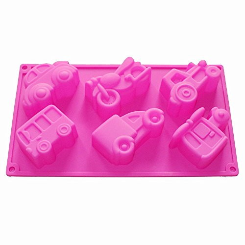 - Homedmade Chocolate Soap Candle Crayon Cookies Plaster DIY Silicone Mold Pan Tray Kids Fun Maker (Vehicles Car)