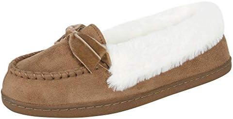 Jessica Simpson Women's Micro Suede Moccasin Indoor Outdoor Slipper Shoe