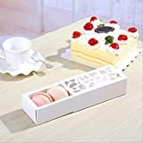 Gift Bags Wrapping Supplies - Luxury White Hollow Macaron Box Dessert Packaging Boxes Baking Muffin Biscuits Chocolate Party - Dessert39;tape Caissettes Decorated Cake Packing. Office Dessert