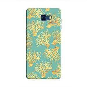 Cover It Up - Blue Gold Nature Print Galaxy C7 Pro Hard Case