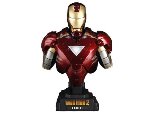Hot Toys Iron Man 2 1/4 Scale Collectible Bust Iron Man Mark VI (Iron Man 2 Mark Vi Hot Toys)
