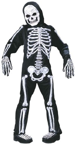 Spooky Skeleton Child Halloween Costume (Large (12-14)) (Best 1 Year Old Boy Halloween Costume)