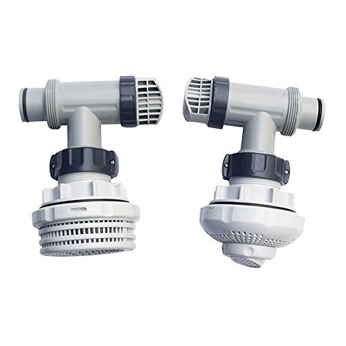 Intex 1.5 Inch Above Ground Pool Inlet & Outlet Strainer Fittings Set | ()