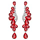 Sinfu Women's Vintage Luxury Crystal Long Tassel