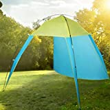 Serwell Waterproof Outdoor Portable Fishing Beach Sunscreen Shade Tent With Carry Bag Sun Shelters