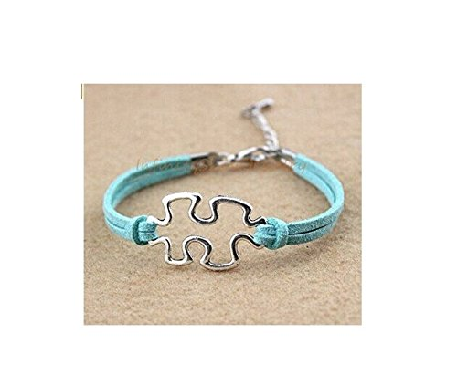 Bracelet, Puzzle Piece, Autism Awareness, Jigsaw Puzzle, Puzzle, Gift for Her, Best Friends Forever, Sisters Gift, Friendship, (Autism Awareness Jewelry)