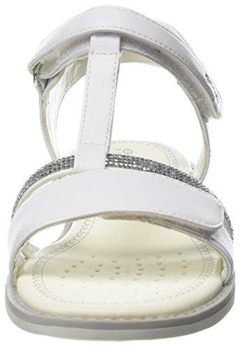 Geox Jr Sandal Giglio B, Sandalias con Tira Vertical Para Niñas Weiß (White)