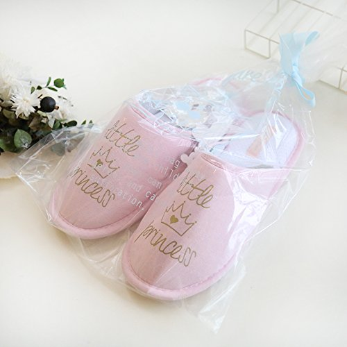 Halluci Womens Cozy Cotton Memory Foam House Slippers w/Non Slip Soles Pink LmXhz3ro3