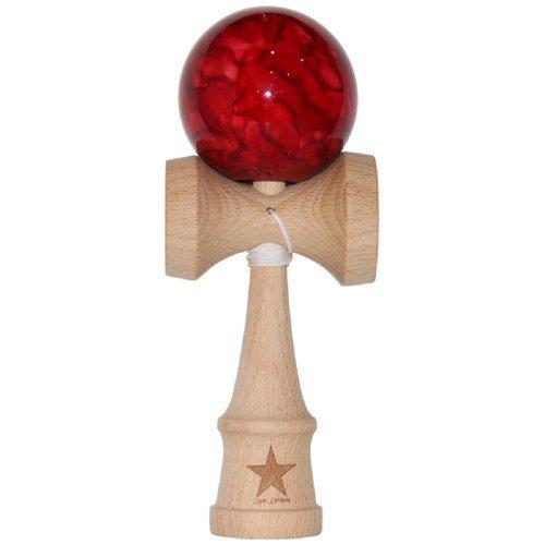 売れ筋商品 Jumbo Red Marble Super Kendama, Super Sticky, Sticky, Kendama, Japanese Wooden Marble Toy, Free String, USA Seller [並行輸入品] B01K1UMG8C, 健康食品の原料屋トライアル:14c78381 --- clubavenue.eu
