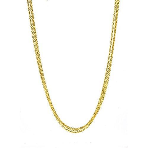 (18k Yellow Gold 3-Strand Cable Necklace - 18 Inch)