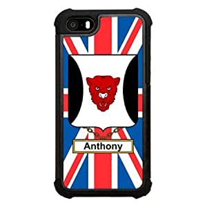 Anthony Family Crest British Shield Click America Tuff Impact iPhone 5s Case