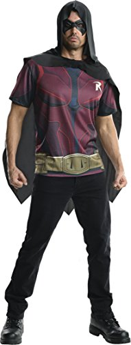 Rubie's Men's Batman Arkham City Adult Robin Top, Multicolor, Small -