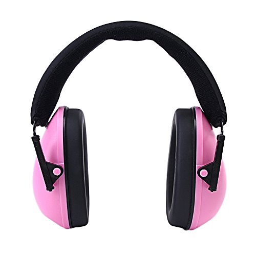 Toennesen Baby Kids Earmuff Hearing Protection Headphone Ear Defenders Adjustable Protector Noise Reduction Ear Muffs Pink
