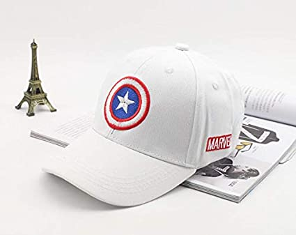 d76b4a6b366624 Buy Others Captain America Superhero Baseball Sports Gorras Snapback  Polyester Unisex Cap (White) Online at Low Prices in India - Amazon.in