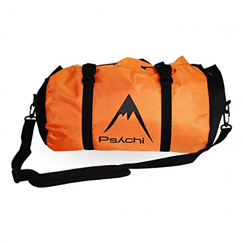 Psychi Climbing Rope Bag with Ground Sheet Buckles and Carry Straps (Orange) by Psychi