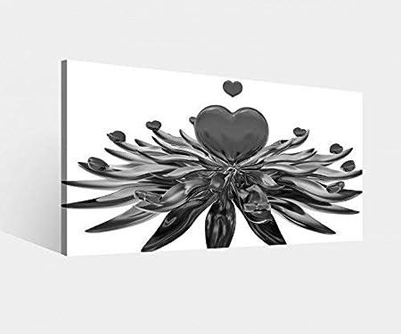 Impression Sur Toile Motif Amour Cœur Rouge Fleur See Cœurs