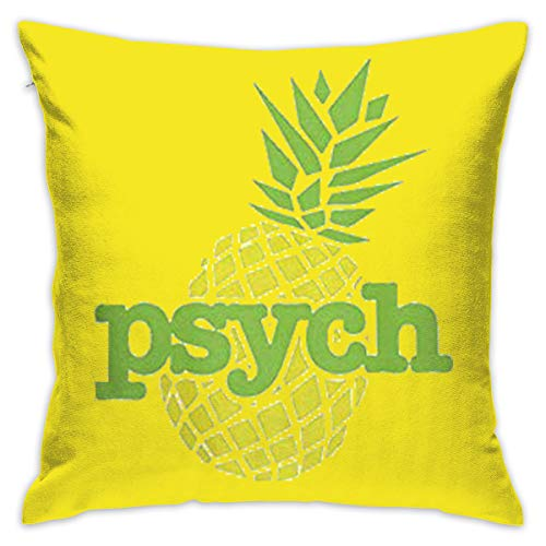 Rockfeeltee Pillowcase Psych Pineapple Custom Made Decor Throw Pillow Cushion Cover by with 18 X 18 Inches Decorative Pillowcase, Multicolor ()