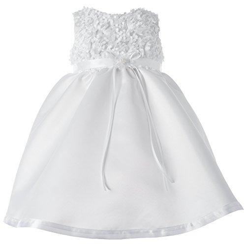 New York Baby Gown (Lauren Madison Baby-Girls Newborn Christening Baptism  Satin Dress with Floral Soutache Top., White, 18 Months)