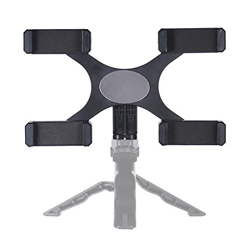 Smartphone Live Broadcast Bracket with 4pcs Holders Clips 1/4