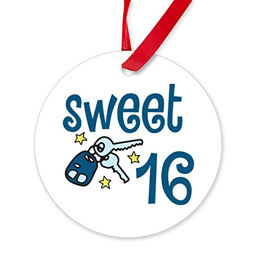 CafePress Sweet 16 Ornament Round Christmas Ornament