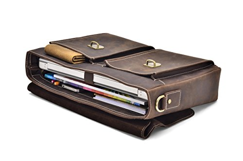 """Hølssen Briefcase Messenger 13"""" Laptop Genuine Leather Bag by Hølssen (Image #4)"""