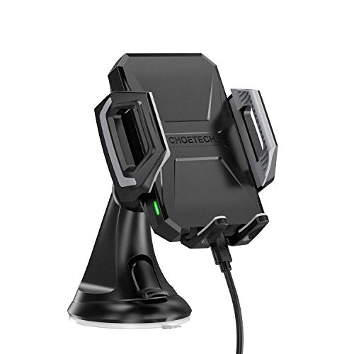 Wireless Car Charger, CHOETECH USB Type C 7.5W Wireless Car Charging Mount Stand Compatible iPhone XS/XS Max/XR/X/8/8 Plus, 10W Fast Wireless Charger Compatible Samsung Galaxy S9/S9+/S8/S8+/Note 9/8 from CHOETECH
