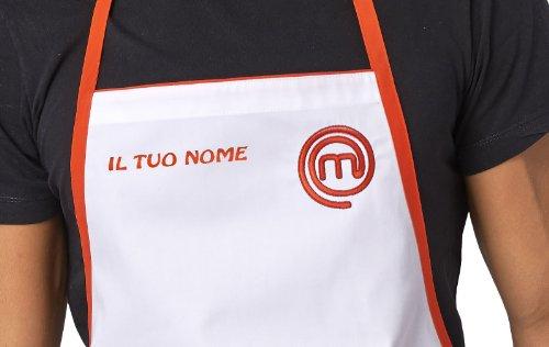 Bianco Nome Ufficiale Con ItaliaGrembiule By Siggi Nero Masterchef Unisex Ricamato Horeca TF1lKJc