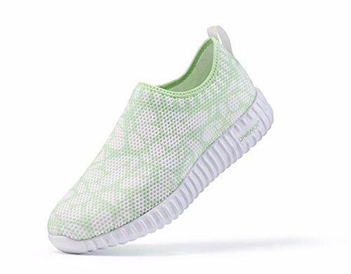 ... Onemix Womens Pustende Sneaker, Fritid Gang Joggesko Grønne ...