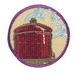 (Girls Scout Brownie Brownies Iron on Simple Meals Junior badge Patch)