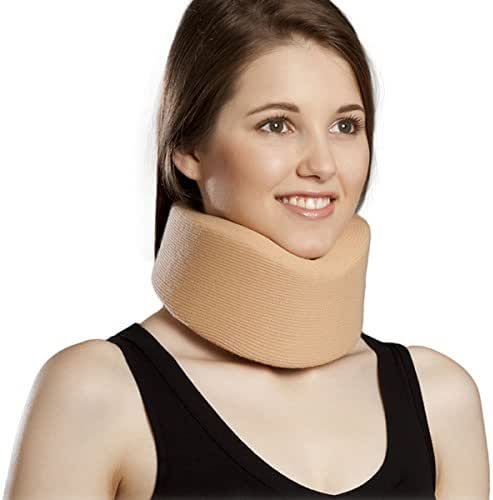 Orthomen Neck Brace by Cervical Collar - Adjustable Soft Support Collar Can Be Used During Sleep - Wraps Aligns and Stabilizes Vertebrae - Relieves Pain and Pressure in Spine(XL)
