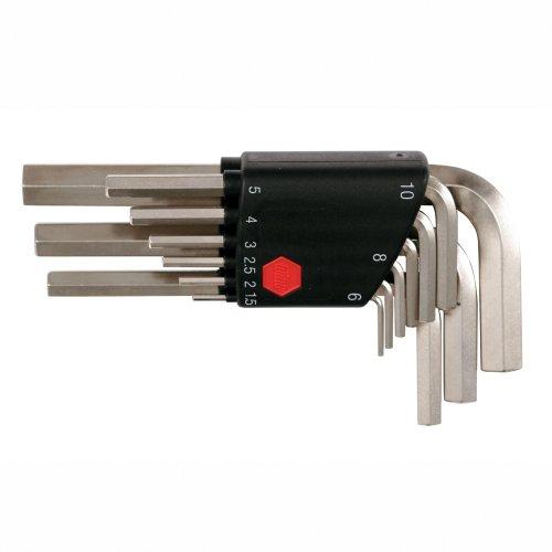Wiha 35191 9-Piece Metric L-Wrench Set in Plastic Holder 9 Piece Metric L-wrench