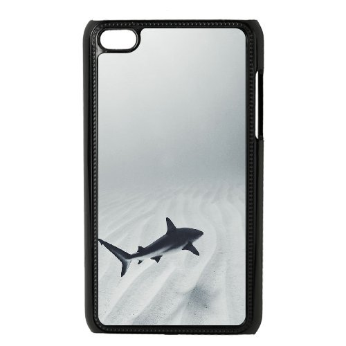 Theone iPod Touch 4 Case,Personalized Custom Cool Sea Monster Big Teeth Jaw Shark,Unique Design Protective TPU Hard Phone Case Cover