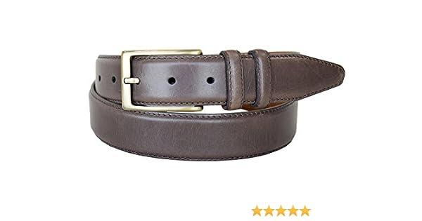 """Lejon Belt Corporate Full Grain Leather Dress Belt 1-3//8/"""" Wide Black"""