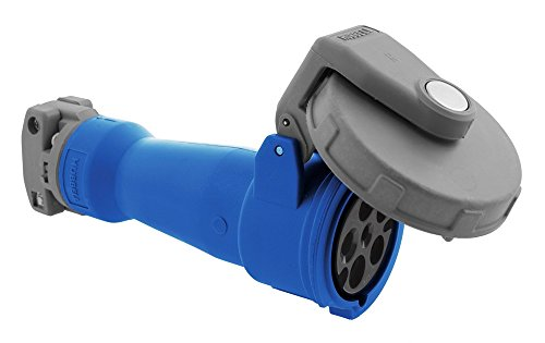 Pin Watertight Wiring (60 Amp, 3Y-Phase Zytel 801 Nylon Watertight Pin and Sleeve Connector, Blue - 1 Each)