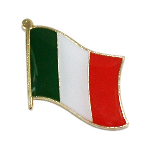 Ted and Jack - Show Your Pride in Your Nation Metal and Ceramic Lapel Pin - - Lapel Pin Flag Italy