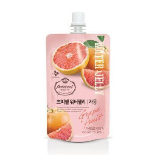 [5packs] CJ Petitzel Water Jelly (Grapefruit) 130ml / Dessert / Fruit vegetable beverage / Korean food by CJ