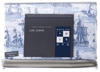 MAX STUDIO Kids Pirate Ship Cruise Cotton Sheet Set - TWIN