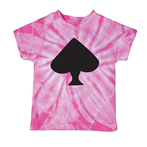 Cute Rascals Spade Black Short Sleeve Crewneck Baby Boys-Girls Cotton Tie Dye T-Shirt Fine Jersey - Pink, 3T (Spades Tie Dye T-shirt)