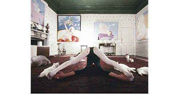 Miriam Karlin in A Clockwork Orange yoga position with cats ...