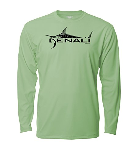 Denali Performance Men's UPF 50+ ProtectUV Mega Solar Long Sleeve T-Shirt with Denali Marlin Logo (Action T-shirt Long Sleeve)