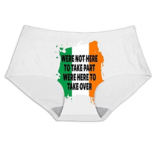 MeiSXue Women's UFC 194 Conor McGregor Quote Irish Flag Ice Silk Briefs (Ufc Footwear)
