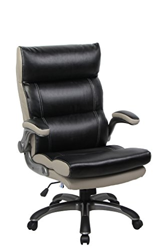 VIVA OFFICE Bonded Leather Thick Padded High Back Managerial Chair with