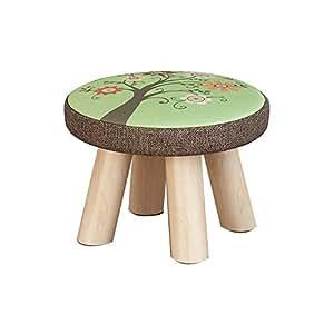 Amazon.com: Taburete de madera para niños acolchado para ...