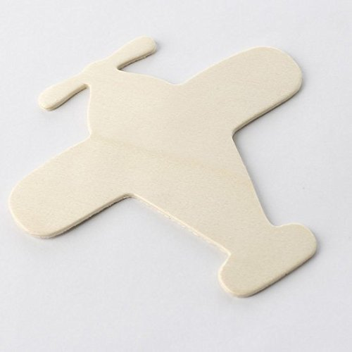 Airplane Factory - Factory Direct Craft Group of 24 Unfinished Wooden Airplane Cutouts for Embellishing and Creating