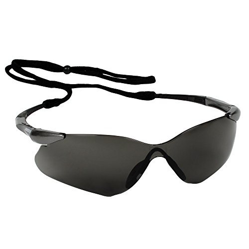 KLEENGUARD Nemesis VL Safety Sunglasses (25704), Sporty Frameless Design, UV Protection, Scratch Resistant, Smoke Lens with Gunmetal Temples, 12 Pairs / Case