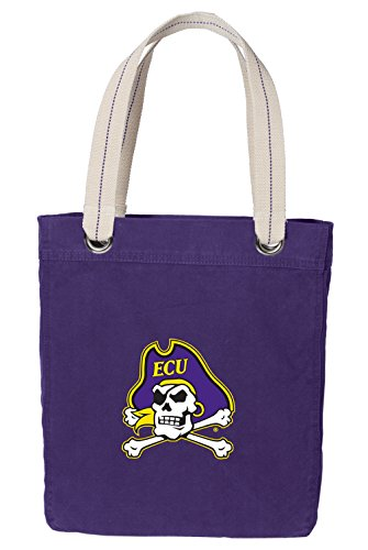 Broad Bay East Carolina Tote Bag Rich Dye Washed Cotton Canvas
